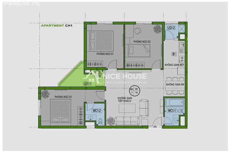 Thiết kế nội thất chung cư La Khê - Hà Nội_2