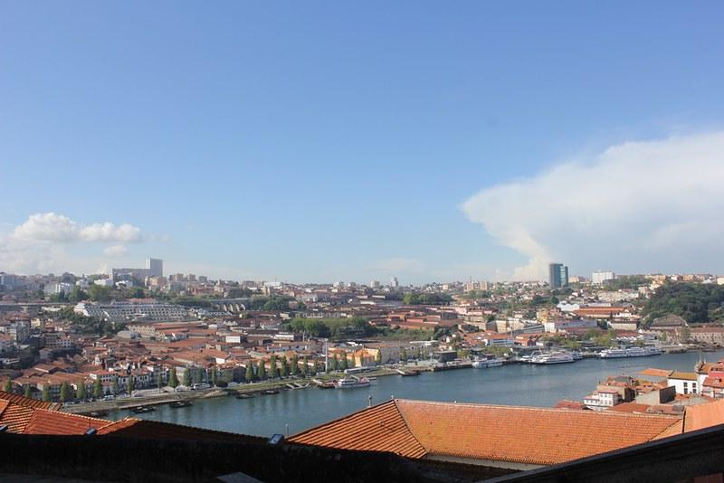 vue depuis le parvis de la cathedrale de Porto