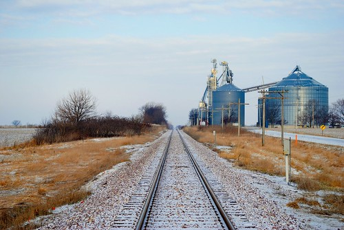 Railroad going through Sharon, Wisconsin