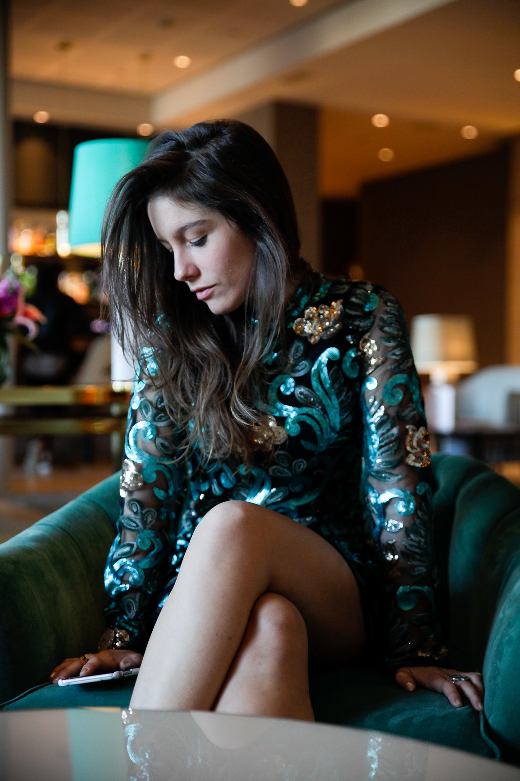02_Green_sequins_dress_outfit_the_guest_girl_theguestgirl_laura_santolaria_fashion_blogger_danity_paris_influencer_barcelona