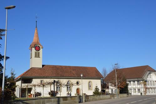 Reformierte-Kirche in Kappelen Werdt Schweiz
