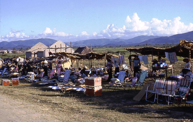Roadside Stands on Hwy 19, An Khe Oct 1965 - Photo by Hallstrom