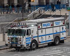 NYPD Emergency Service Truck 4, Yankees Game at Yankee Stadium, The Bronx, New York City