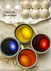 Anatomy of Colored Easter Eggs