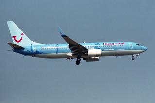 "Hapag-Lloyd  Boeing 737-8K5 D-AHLR ""World of TUI"""