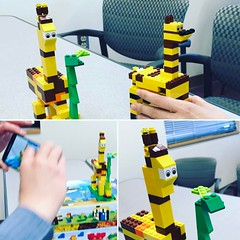 Yes, this was part of our projects on the last day of class.  Those are giraffes that our teams created!  Haha, cool. #projectmanagement #class #giraffe #lego
