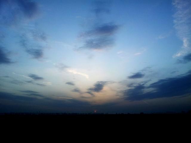 The sun rises!...