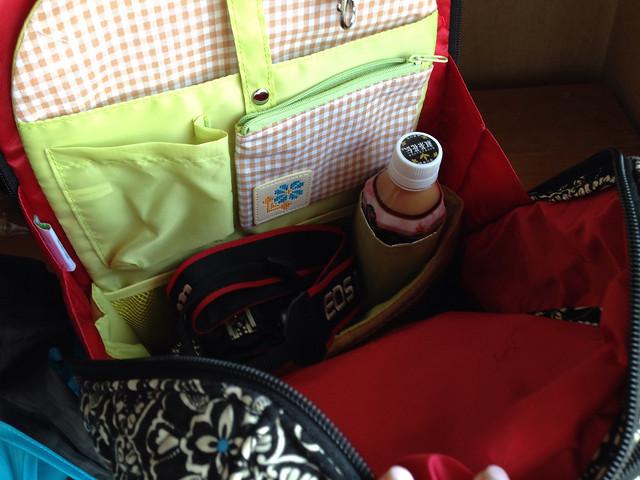 リュックのバッグインバッグ