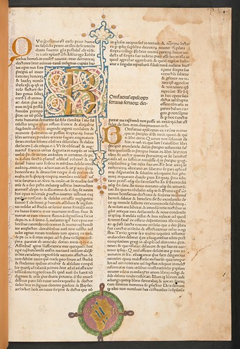 Decrated page with an armorial shield in Bonifacius VIII, Pont. Max.: Liber sextus Decretalium