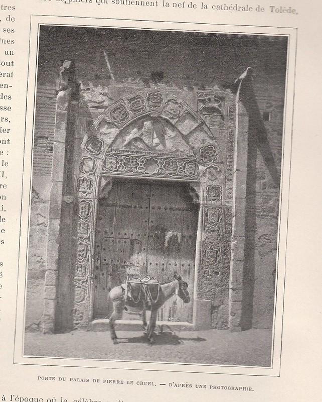 Palacio de Inés de Ayala en la Plaza de Santa Isabel. Publicada en De Tolède a Grenade por Jane Dieulafoy  para Le Tour du Monde en 1905