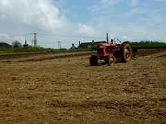sowing(0.0), crop(0.0), prairie(1.0), agriculture(1.0), farm(1.0), field(1.0), soil(1.0), vehicle(1.0), plough(1.0), plain(1.0), agricultural machinery(1.0), rural area(1.0),