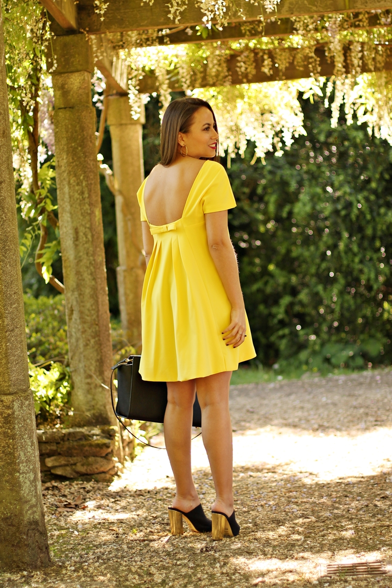 vestido amarillo sheinside