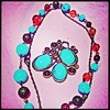 Turquoise necklace and broach #necklace #broach #turquoise #accessory #fashion by Anna0111