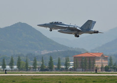 An EA-18G Growler from Electronic Attack Squadron (VAQ) 132 takes off from Gwangju Air Base April 23 during exercise Max Thunder. (U.S. Navy/MC1 Lynn Frank Andrews)