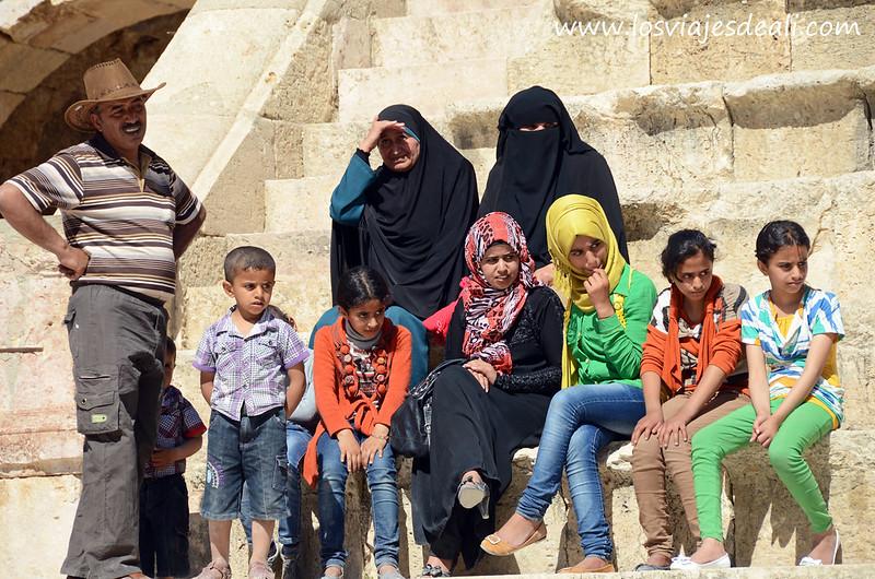 Turismo local en Jerash