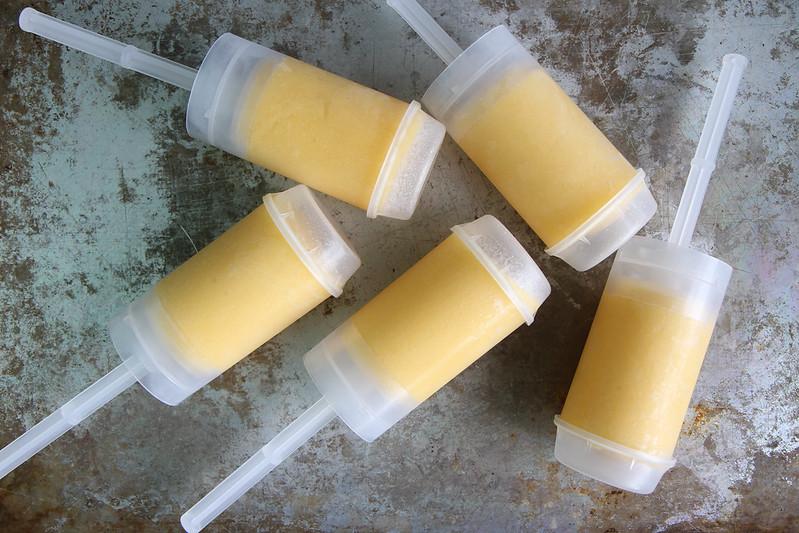 Mango Vanilla Honey Smoothie Push-up Pops