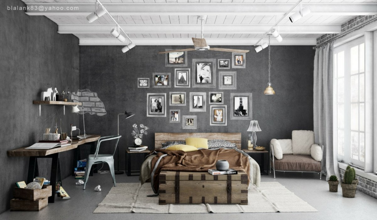 masculine-industrial-bedrooms-interior-design-for-men-with-white-grey-color-ideas