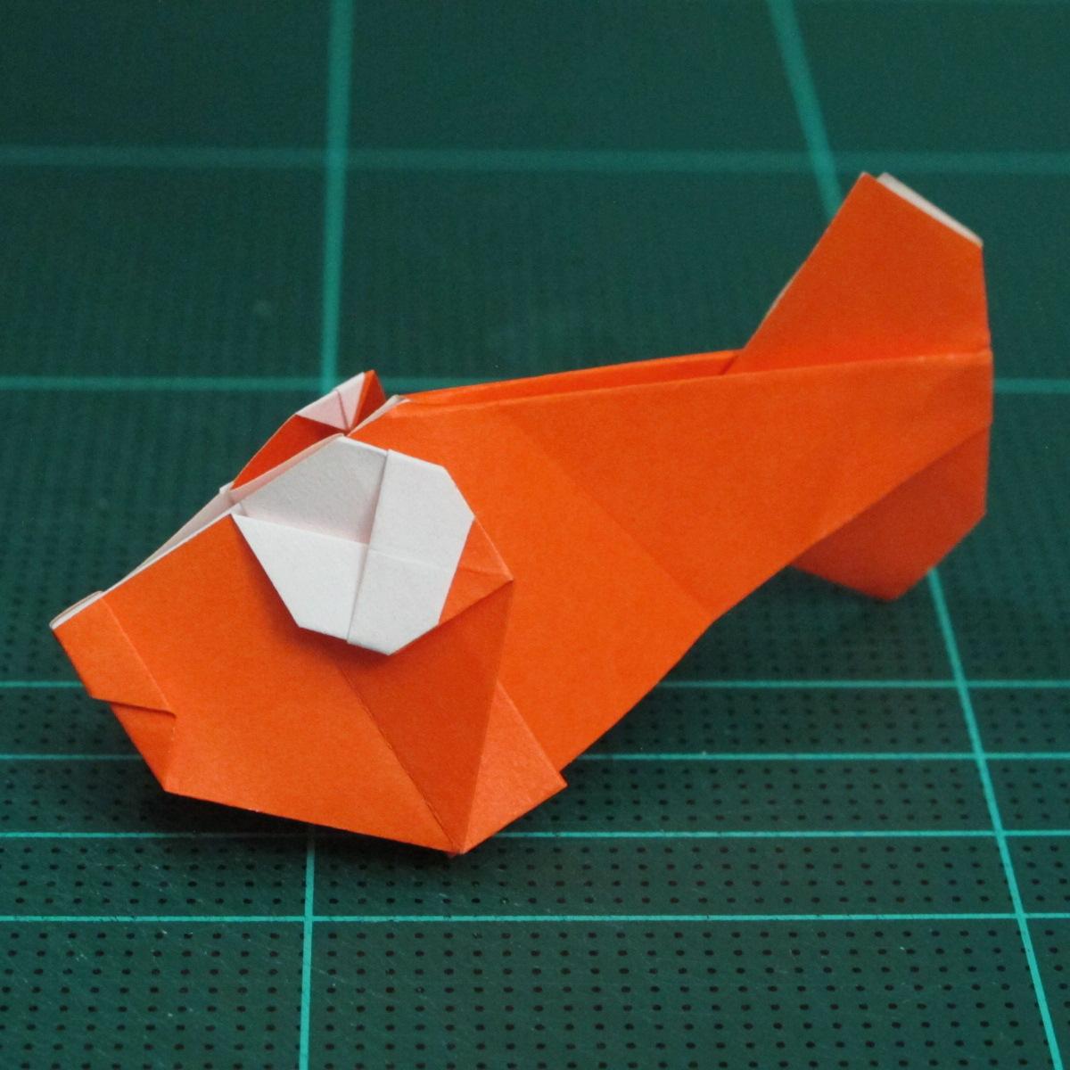 การพับกระดาษเป็นรูปปลาทอง (Origami Goldfish) 029