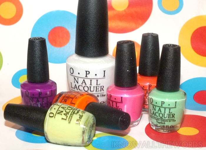 OPI Little Bits of Neon minis vs OPI Alpine Snow