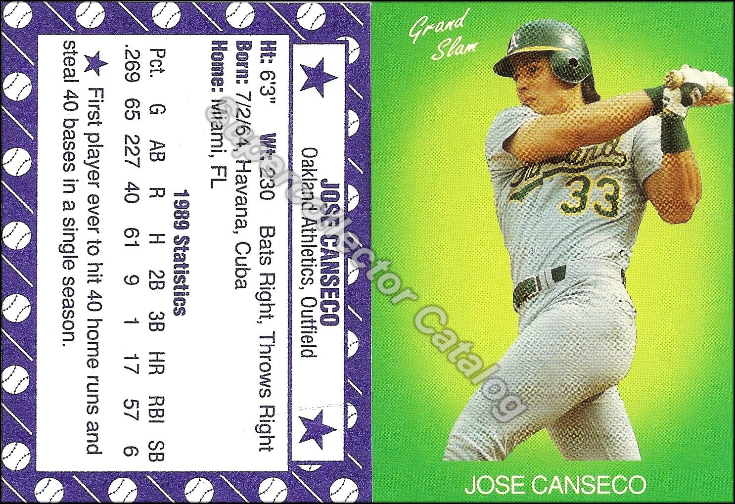 1990 Grand Slam Green (light green background)