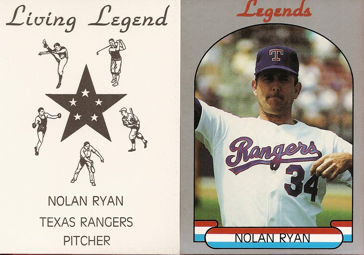 1990 Living Legends Gray (gray border with banner)