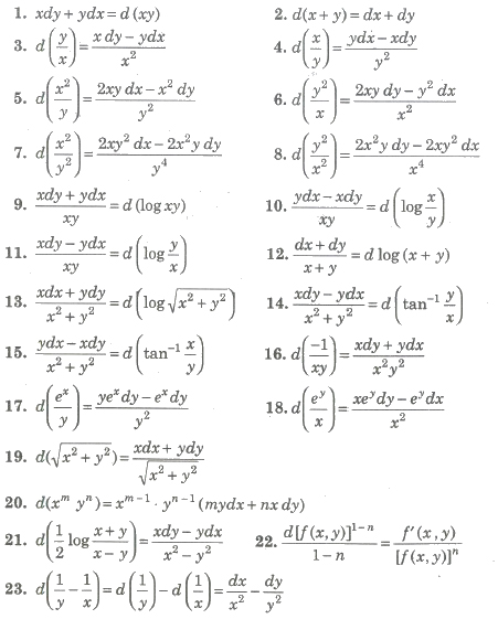CBSE Class 12 Maths Notes Differential Equations