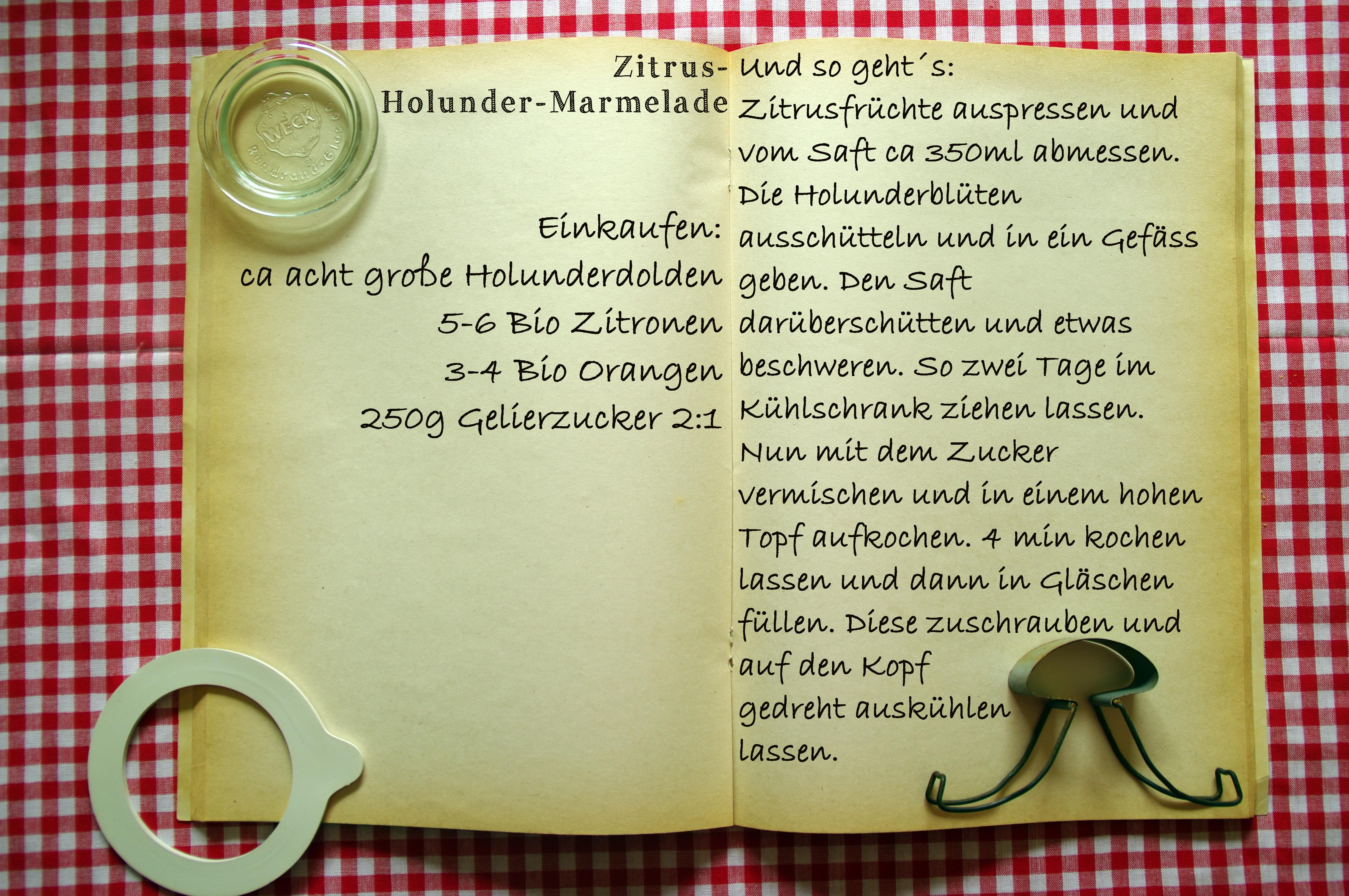 Einkaufszettel Holunderzitrusgelee by Glasgefluester