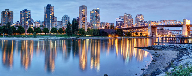 Vancouver Downtown West End Blue Hour