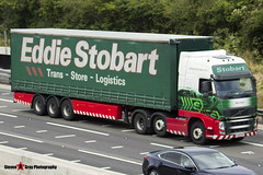 Volvo FH 6x2 Tractor with 3 Axle Curtainside Trailer - PX11 CFD - H4747 - Neve Anne - Eddie Stobart - M1 J10 Luton - Steven Gray - IMG_5128