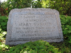 Photo of Mary Garden stone plaque