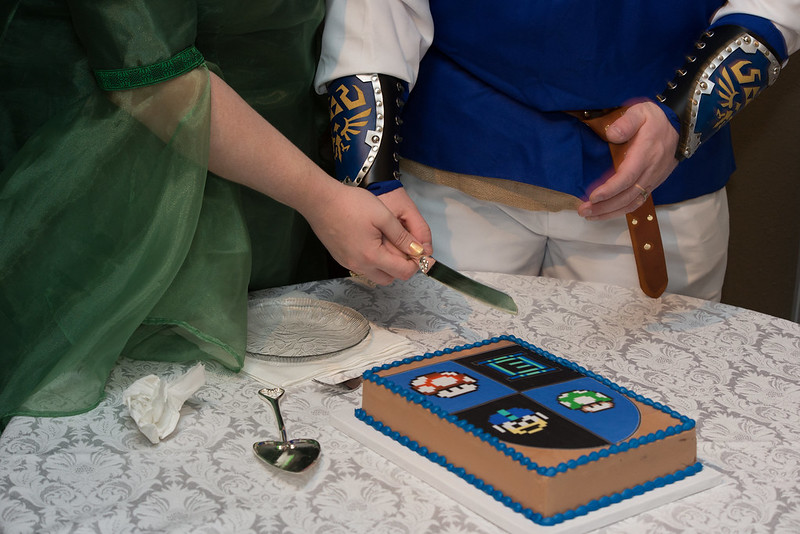 Sword and Shield - Cutting the Groom's Cake