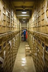 Land Bank Vault Exhibition- it is HUGE (2 floors). 參觀土地銀行的保險庫,兩層樓無比的大