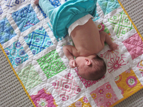 baby + quilt