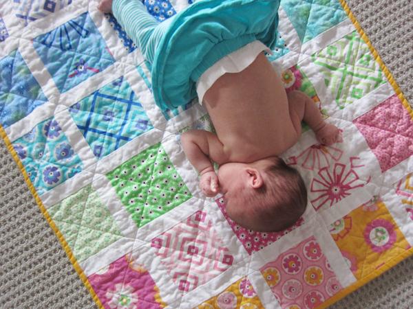 baby + quilt
