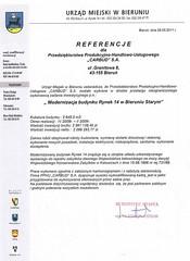 Referencje Urzędu Miejskiego w Bieruniu 2011r.