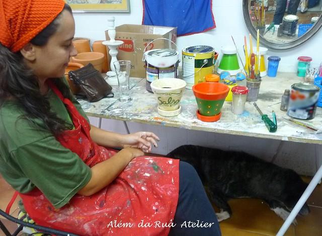 Curso de pintura em vasos