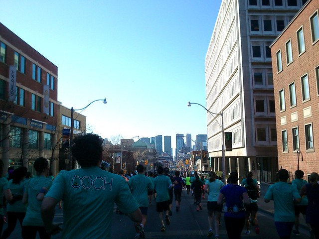 Sporting Life 10K run on Yonge Street