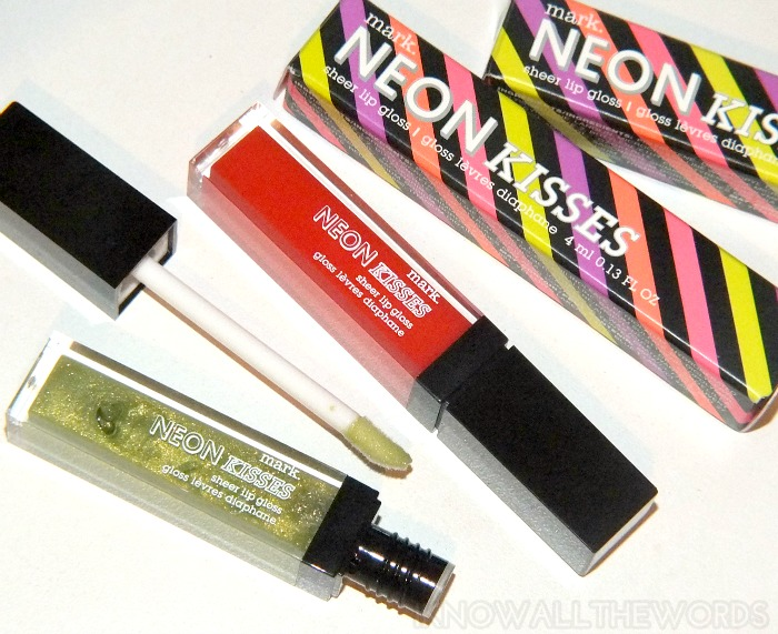 mark neon kisses sheer lip gloss- twisted lime and wild orange