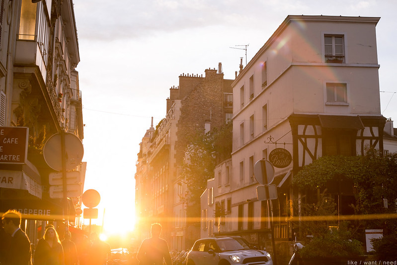 Montmartre at sunset