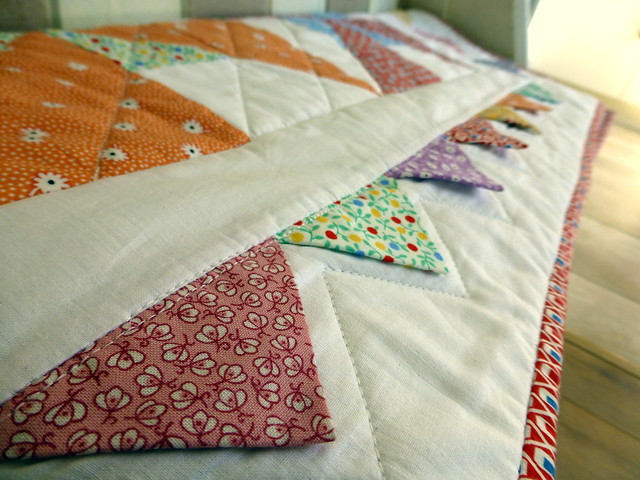 Pinwheel Prairies baby quilt - class sample