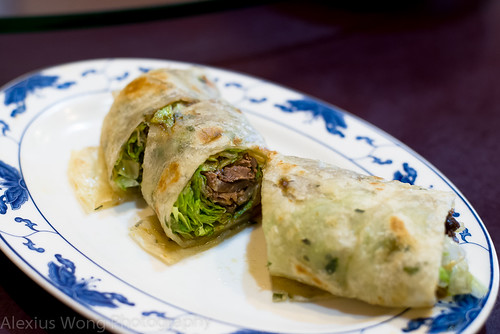 Beef wrap with Scallions