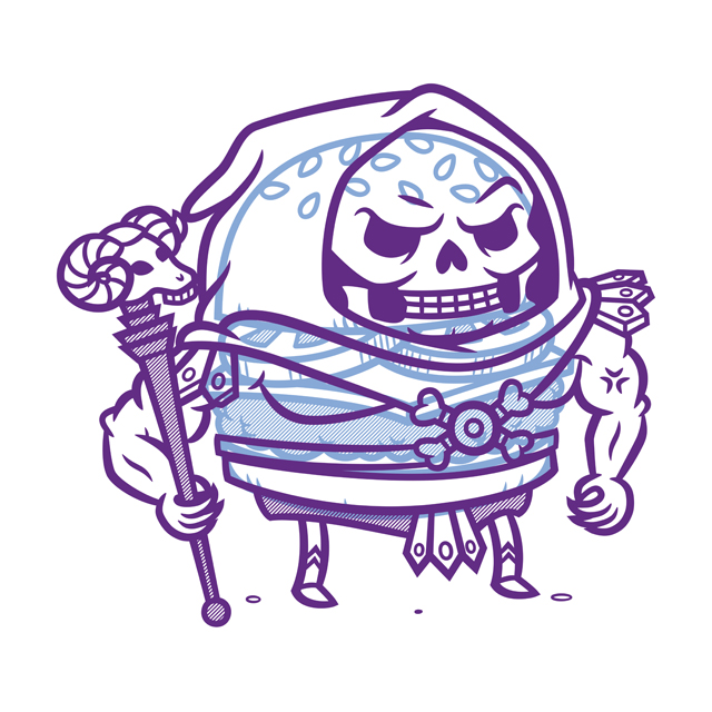 Cheeseburger Skeletor
