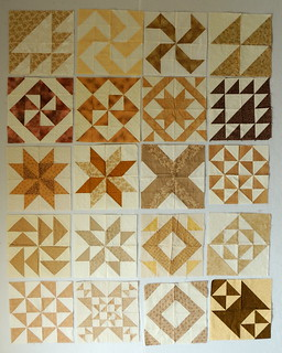 Blocks made from Half-Square Triangles
