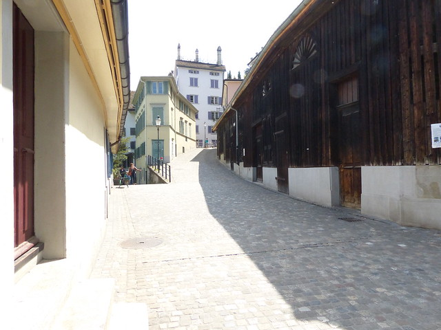 Cobblestone Path Between Buildings