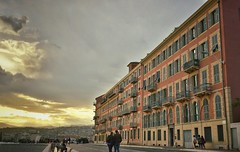 Sunset in Nice, France