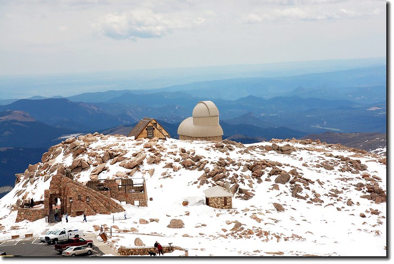 Overlooking Meyr Womble observatory(Elev. 14125 ft.) from Ev