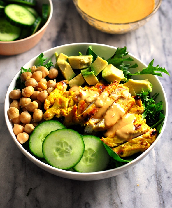 Satay Chicken Salad {Gluten Free Recipe}