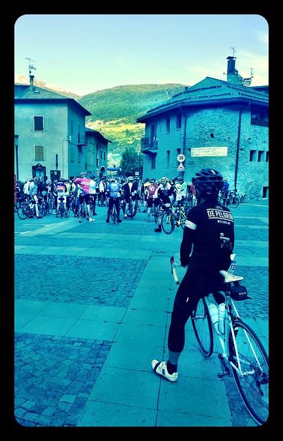 Bormio @ start of Granfondo Stelvio Santini 2014