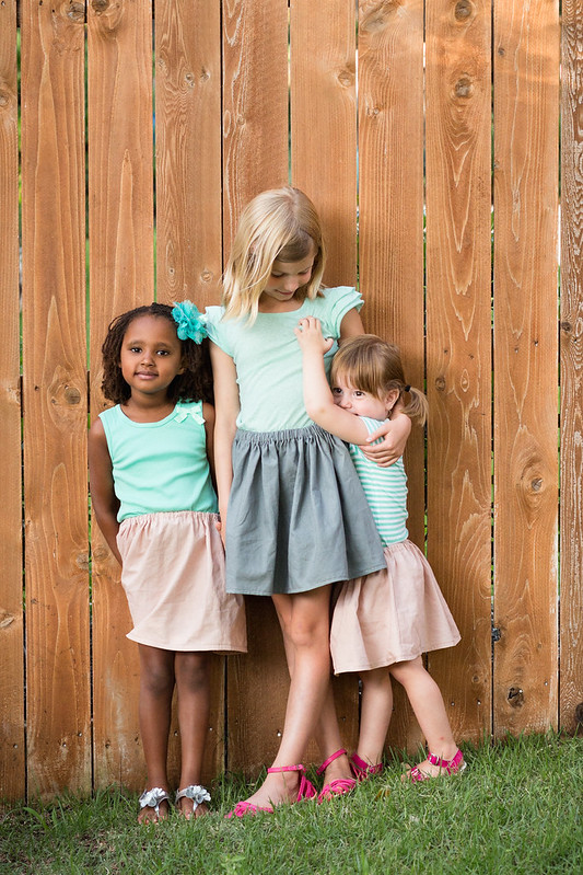 three linen skirts