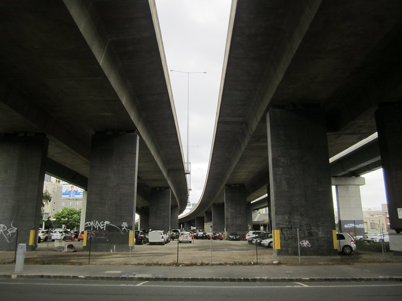 Car park below Westgate Freeway